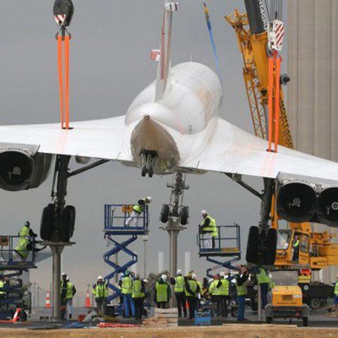 Pieds support pour exposition du Concorde à l'aéroport Roissy – Charles De Gaulles