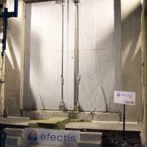 Porte pivotante coupe feu 4 heures (centrale nucléaire en chine) – Essai au feu