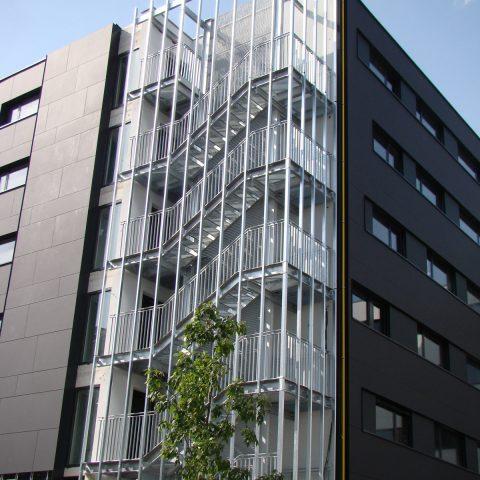 Escalier de secours – Logements étudiant à Strasbourg