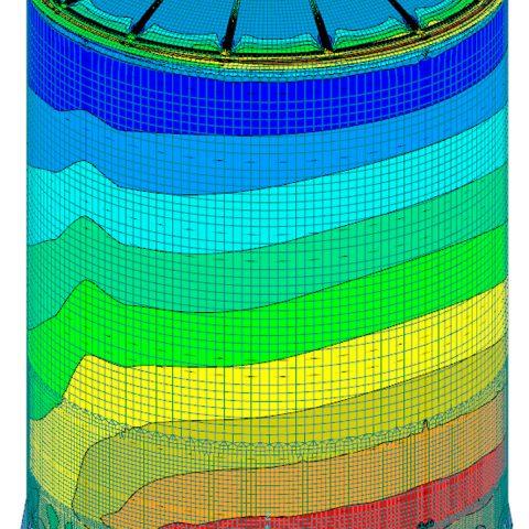 Dimensionnement au séisme d'une cuve de stockage – industrie chimique