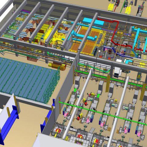 Implantation de lignes d'emballages complètes – machines, convoyeurs, structures