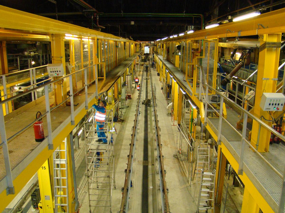 Passerelles d'accès sécurisé pour entretien des rames – Ateliers SNCF