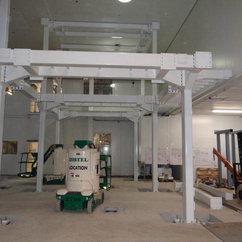 Structure support d'équipements lourds – industrie agro-alimentaire