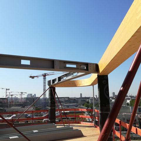 BNP Curve à Paris – Bâtiment tertiaire R+7 – Etude EXE des planchers métalliques